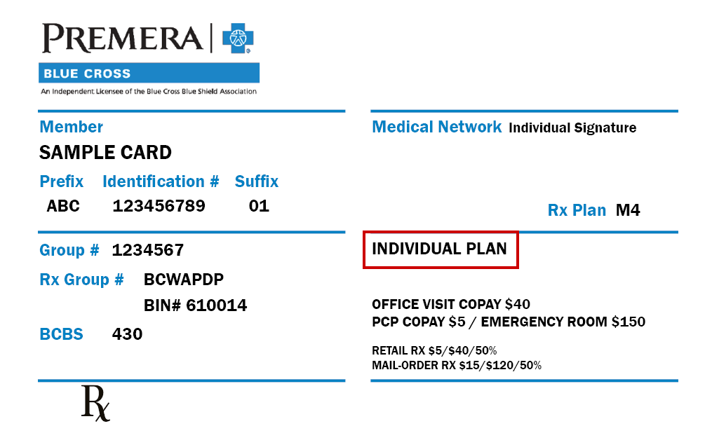 ID card showing the words individual plan on it.